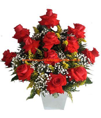 1066 Arranjo com rosas Colombianas