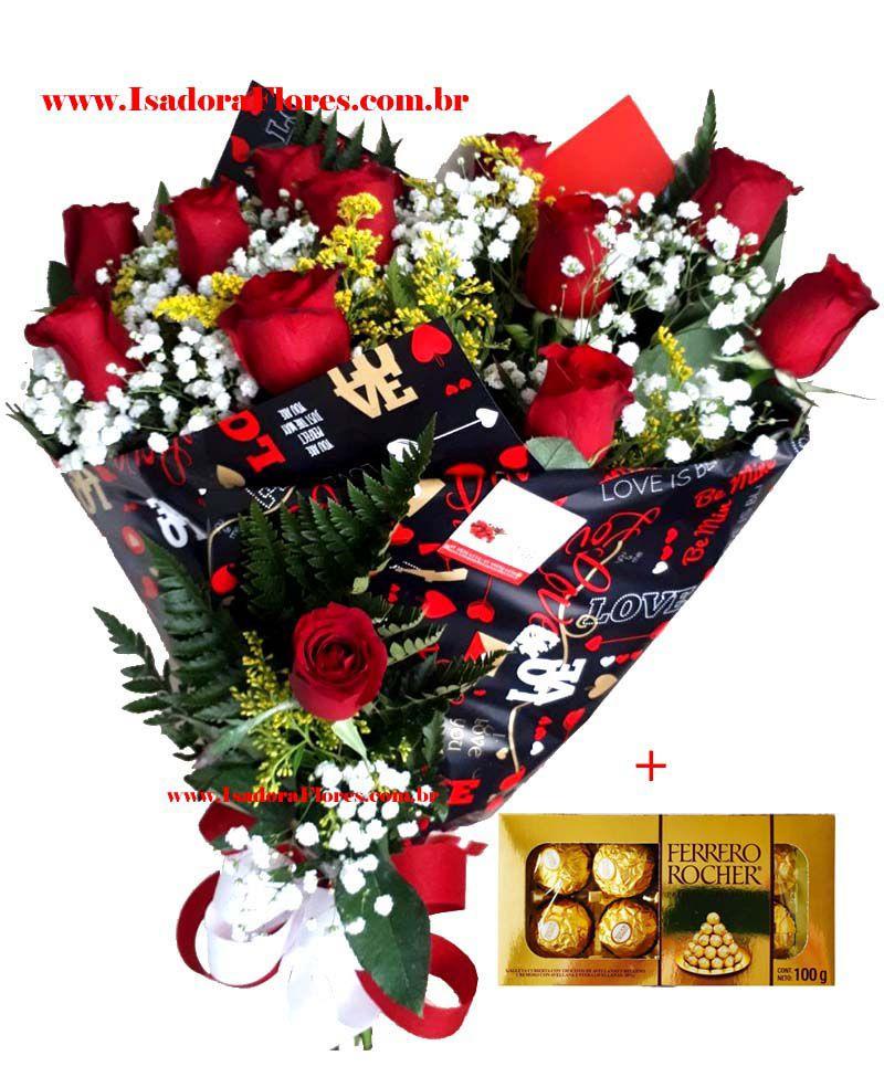 1246 Buquê Rosas + Ferrero Rocher