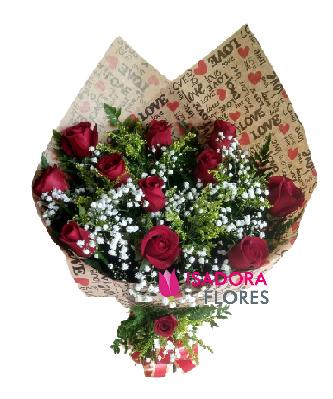 1252 Buquê Rosas Love