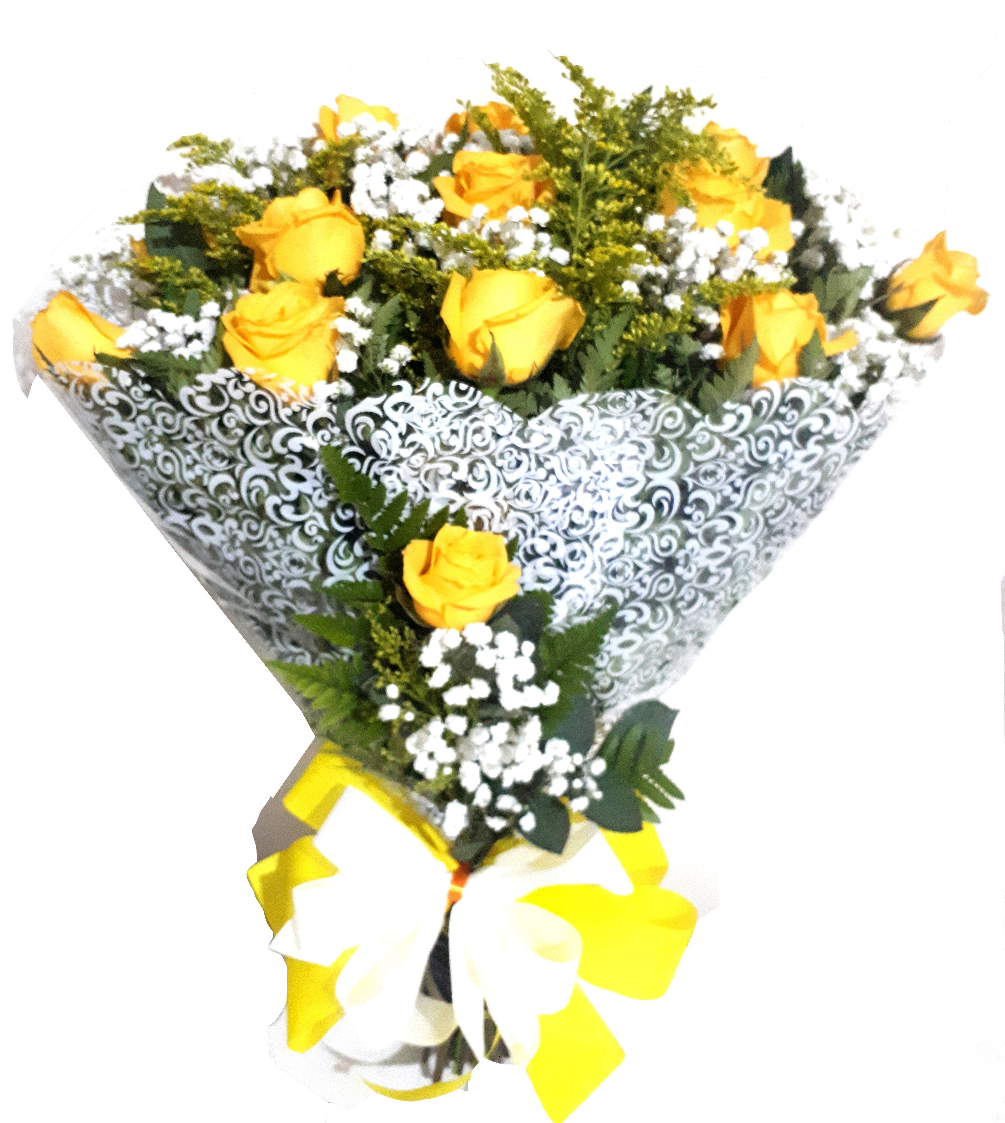 1706 Buquê Rosas Amarelas