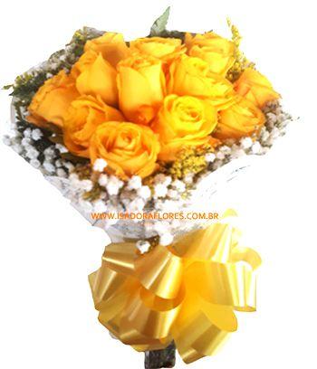1895 -Buquê com 15 rosas amarelas.