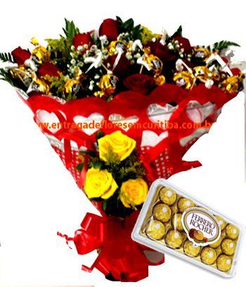1904 Buquê Ouro Branco + Ferrero Rocher