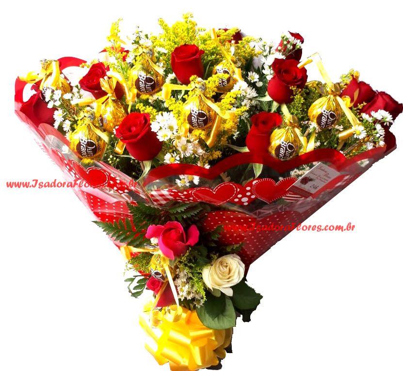 2094 Buquê de Rosas + Ouro Branco