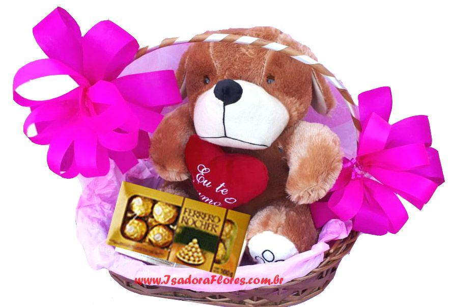 2095 Cesta com Urso e Ferrero