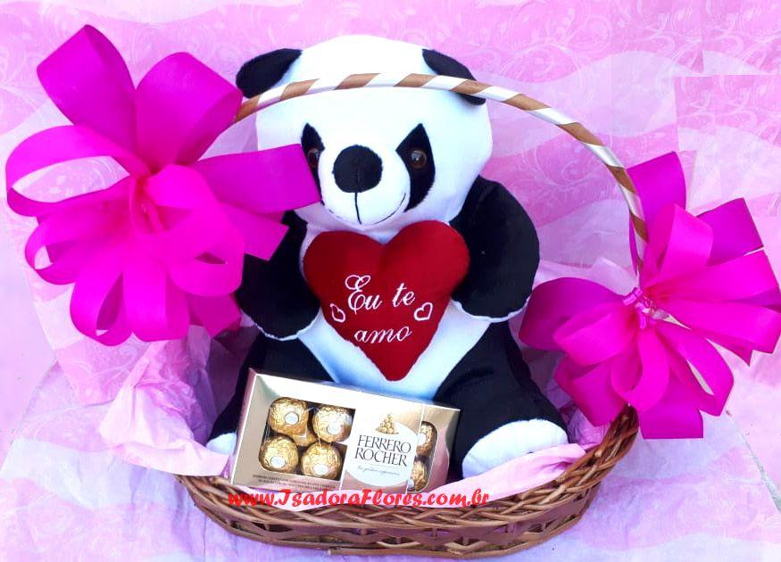 2096 Cesta com Panda e chocolate