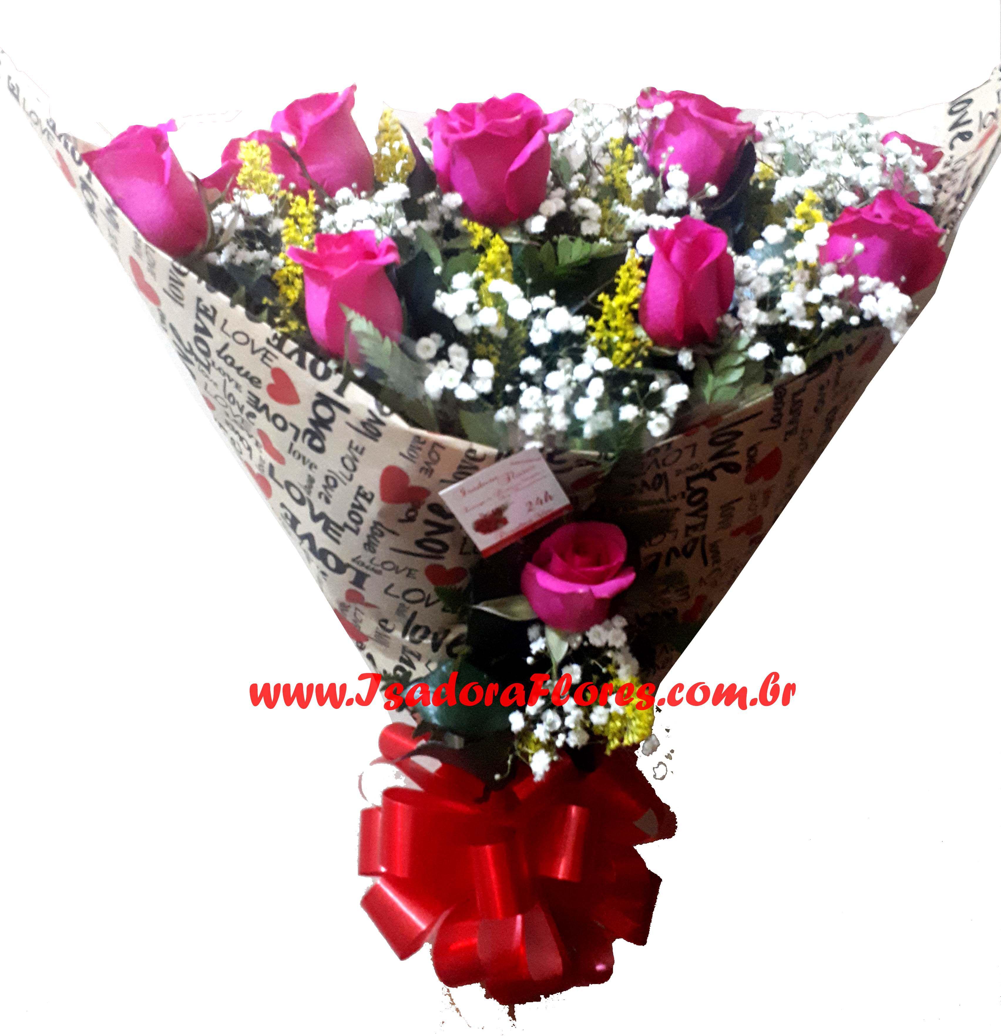 2191 Love com rosas cor de rosa
