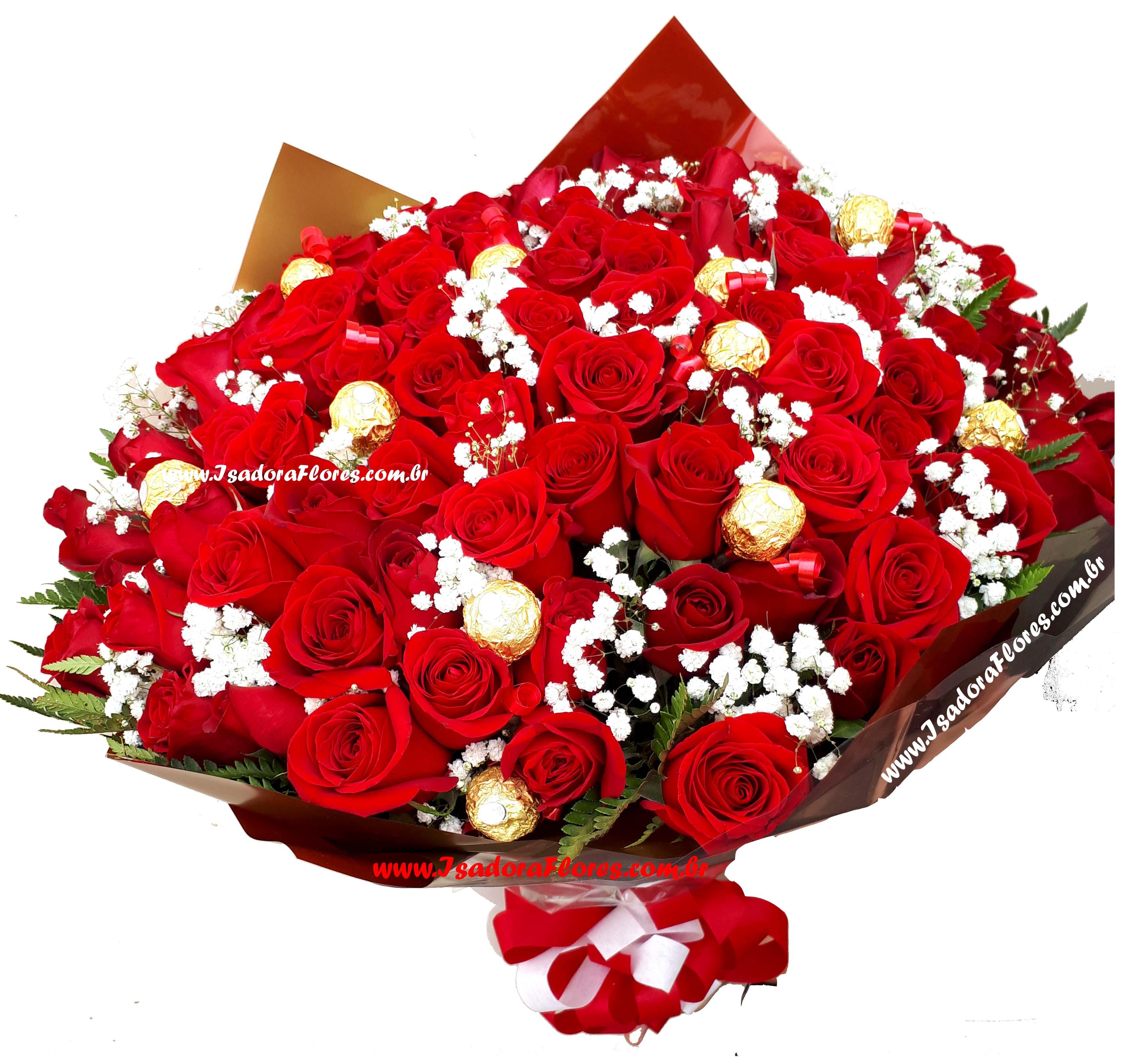 2216 Buquê Emoções 100 Rosas Colombianas