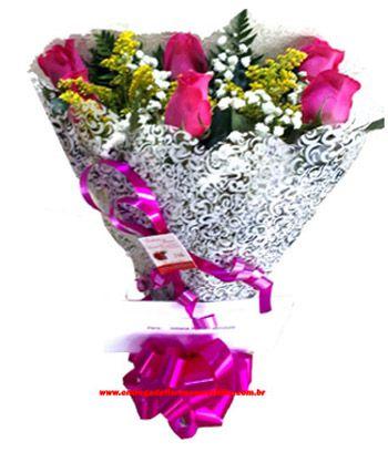 2318 Buquê com Rosas cor de rosa
