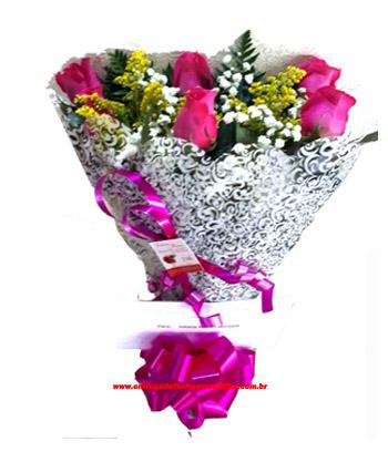2409 Buquê com rosas Pink