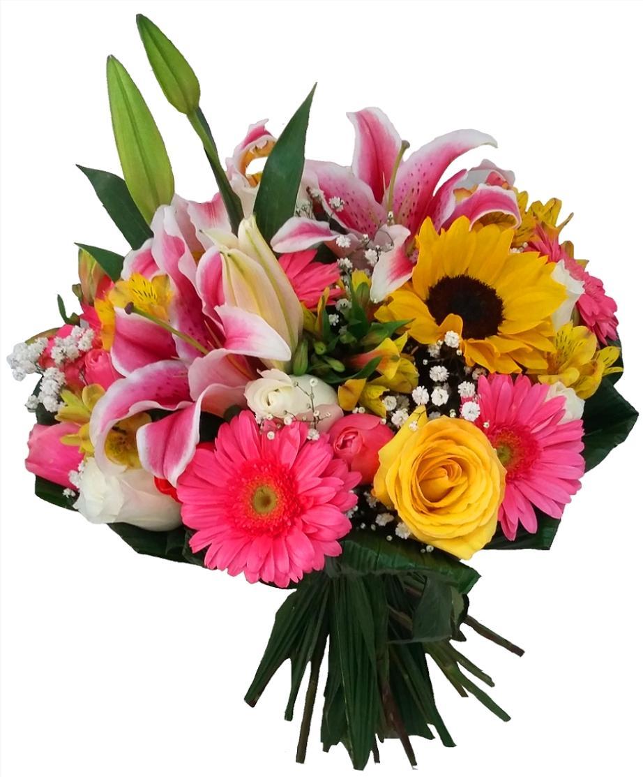 2414 Buquê Jardim Encantado - Mix de Flores Nobres