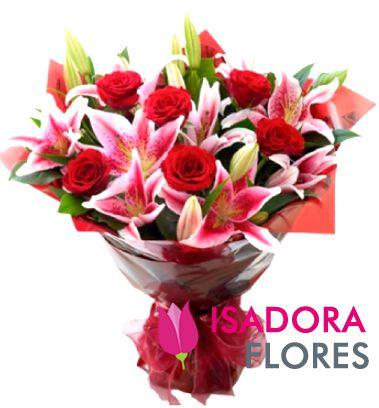 2459 Lírios com rosas