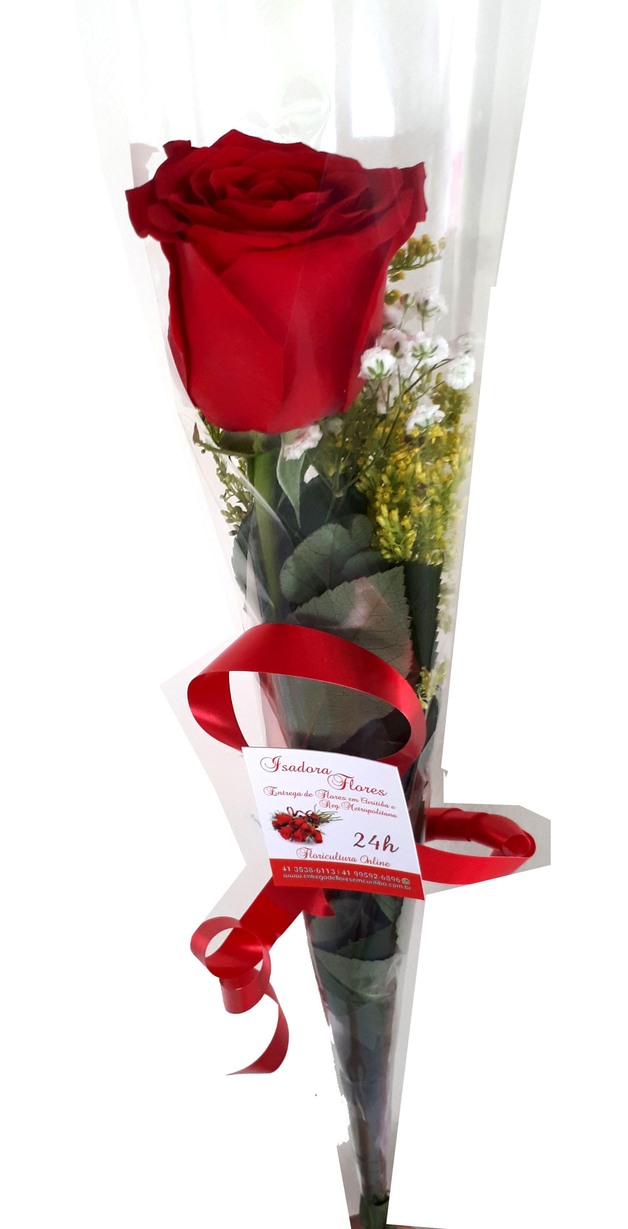 2543 Rosa unitária decorada para presente