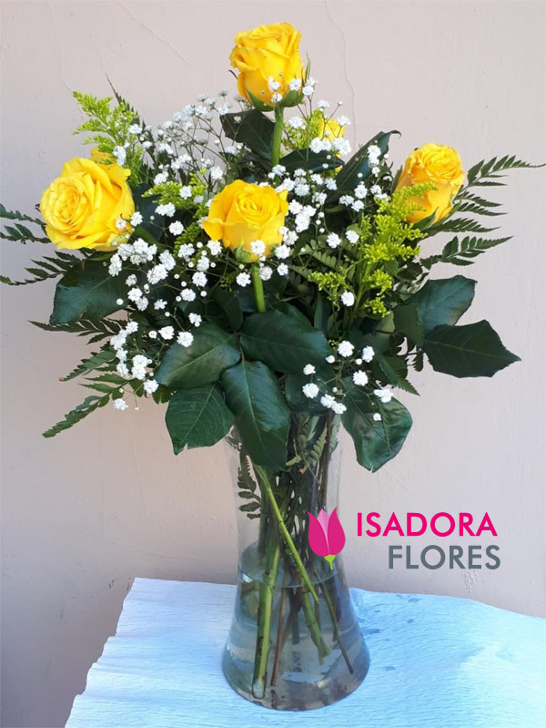2782 Vaso com rosas amarelas