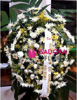 2862 Coroa de Flores Condôlencias