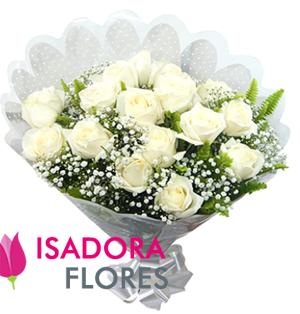 2900 Buquê com Rosas Brancas