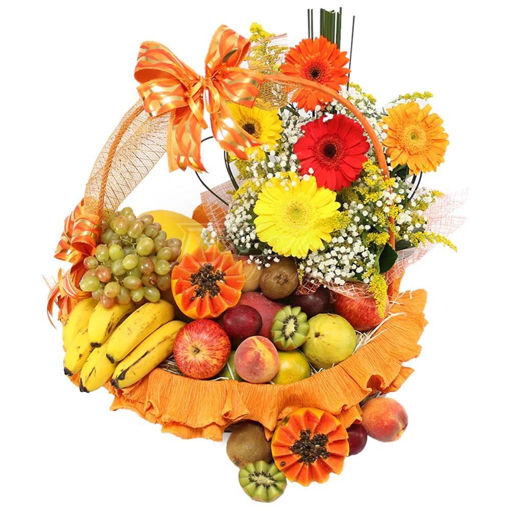 2902 Cesta Tropical - Flores&Frutas