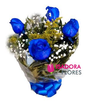 3020 Buquê Rosas Azuis