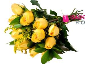 3081 Ramalhete com rosas amarelas