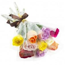 3083 Rosas coloridas embaladas individualmente - A partir de 15 Unidades