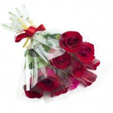 3084 Rosas vermelhas embaladas individualmente. A partir de 15 unidades