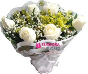 3089 Buquê com Rosas Brancas