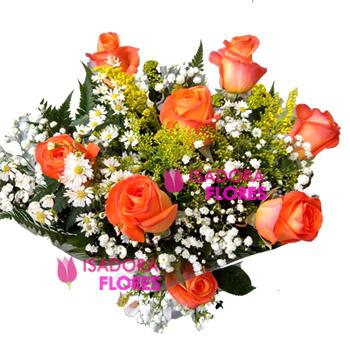 3245 Buquê com Rosas cor Laranja