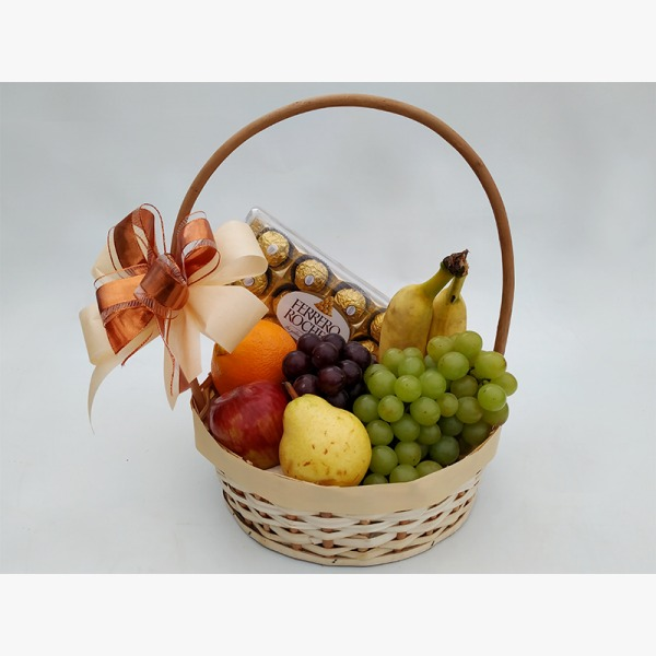 3402 Cesta Amo Frutas e Chocolate