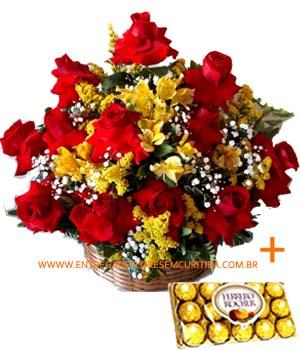 3843 Cesta Amo você com Ferrero