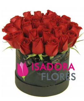 3893 Flower Box Com Rosas Vermelhas