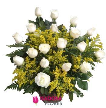 3898 Arranjo com Rosas Brancas