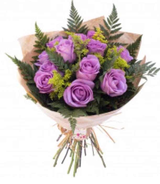3948 Buquê Somente Você ♥ com 12 Rosas Lílas