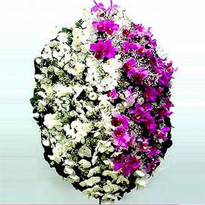 3985 Coroa de flores Pérola com Orquídeas