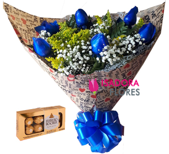 4078 Blue Love com Ferrero