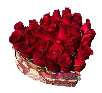 4407 Coração Rosas  PROMOÇÃO!!!