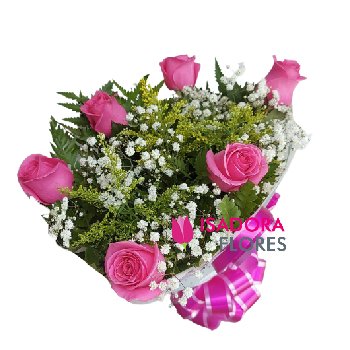 4599 Buquê com Rosas cor de rosa