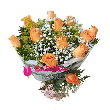 4630 Buquê com Rosas Laranja