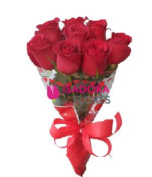 4857 Ramalhete com Rosas Vermelhas