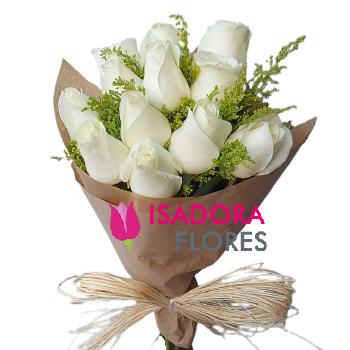 4912 Ramelhete rosas brancas