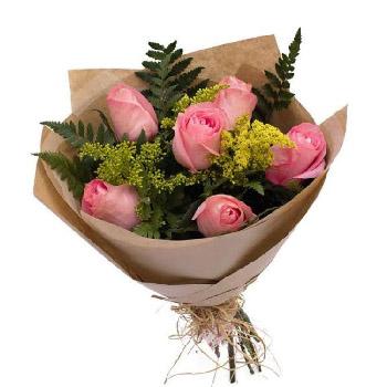 4983 Buquê Rosas Cor de Rosa