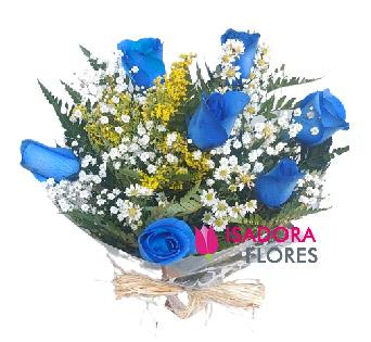 5043 Buquê Rosas Azuis