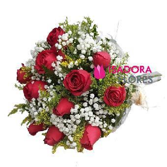 5070 Buquê com Rosas Vermelhas