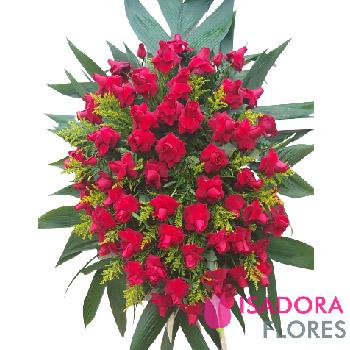 5115 Eternas Saudades Coroa de Flores Rosas Vermelhas
