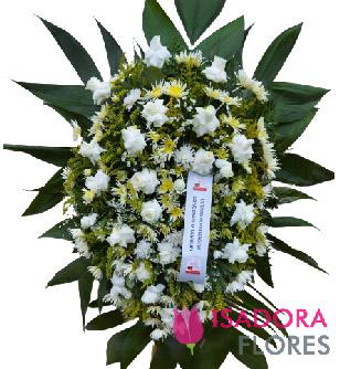 5117 Coroa de Flores Branca