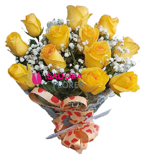 5128 Buquê Rosas Amarelas