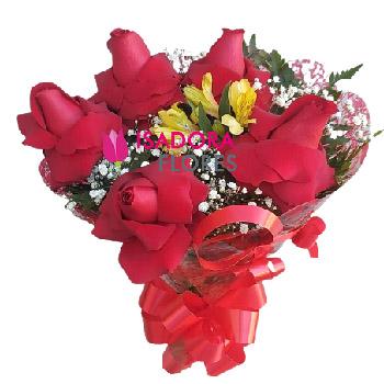 5214 Buquê Rosas vermelhas